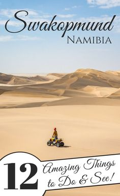 12 Amazing Things to See and Do in Swakopmund, Namibia. If you're visiting Namibia make sure you check out this cute German-influenced coastal town! Amazing oysters, local crafts, great food, and adrenaline-packed activities in the nearby sand dunes! Africa Destinations, Travel Destinations, Namibia, Safari, Africa Travel, Travel Tips, Travel Checklist, Budget Travel, Travel Guides