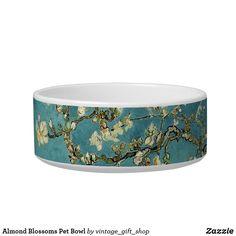 Almond Blossoms Pet Bowl Van Gogh Almond Blossom, Pet Bowls, Ceramic Bowls, Vintage Gifts, Dog Design, Special Events, Keep It Cleaner, Your Pet, Turquoise Bracelet