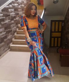 Ankara Styles: They Are Trendsetting And Unique - Wedding Digest Naija Ankara Styles: They Are Trendsetting And Unique - Wedding Digest Naija African Dresses For Women, African Print Dresses, African Attire, African Fashion Dresses, African Women, African Prints, African Outfits, African Inspired Fashion, African Print Fashion