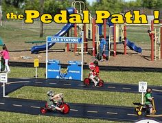 Pedal Path- Shipping is now included in price! It's the Pedal Path™ and is a very easy DIY installation. Perfect for child care centers, daycares, early childhood programs, headstarts, mothers-day-out, churches and more. Check out our four different layouts starting at only $2,149.95! Find it at http://noahsplay.com/trikes-and-pedal-paths/?sort=featured?pmc=PA-PPs