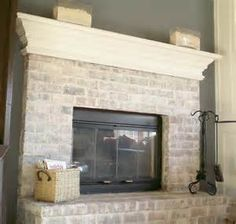 should i whitewash brick fireplace - Bing Images