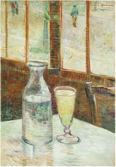 Vincent van Gogh Still Life with Absinthe Painting.
