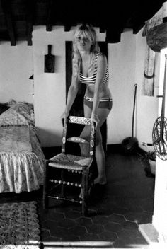 Brigitte Bardot at her villa in Saint-Tropez