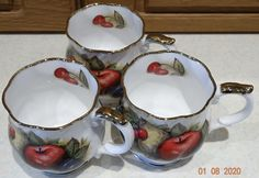 VINTAGE Queen's CHURCHILL Fine Bone China Cups Antique Fruit Collectible – British & Far East Traders Lifestyle & Shopping Blog Coffee Cups, Tea Cups, Beautiful Fruits, Lifestyle Shop, Churchill, Bone China, Body Painting, Bones, Delicate