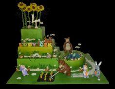 Masha and the Bear - Cake by Renata Masha And The Bear, Bear Cakes, Cake Decorating, Birthday Cake, Pastel, Christmas Ornaments, Holiday Decor, Desserts, Cupcakes