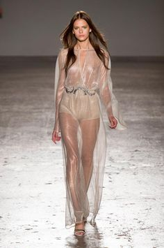 Transparent fabrics and see-through silhouettes: the trend remains strong for the upcoming spring 2016 season / Genny