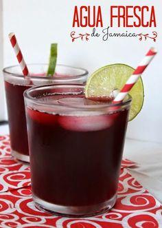 Agua fresca de Jamaica. Bebida popular en Mexico. #aguadejamaica by www.unamexicanaenusa.com