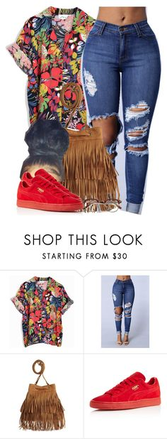 """Hold up, they don't love you like I love you."" by cheerstostyle ❤ liked on Polyvore featuring H&M and Puma"