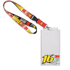 """NASCAR Greg Biffle Credential Holder Lanyard by WinCraft. $10.95. Greg Biffle Credential Holder LanyardLobster claw clipScreen print graphicsWoven graphicsOfficially licensed NASCAR productImportedPlastic sleeve measures 8.5"""" x 4.25""""Hangs 20"""" in length (including keyring)Hangs 20"""" in length (including keyring)Woven graphicsPlastic sleeve measures 8.5"""" x 4.25""""Screen print graphicsLobster claw clipImportedOfficially licensed NASCAR product"""