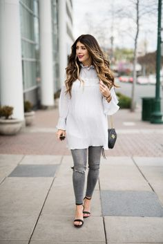 Casual Look with Chicwish | spring fashion | spring style | spring outfit ideas | fashion tips for spring | style ideas for spring | outfits for spring | maternity fashion | maternity style | pregnancy fashion || The Girl in the Yellow Dress