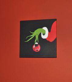 Grinch Canvas Painting x Wall Art Playroom Artwork Bedroom Decor Kids Christmas art by lidia Christmas Canvas, Grinch Christmas, Christmas Paintings, Christmas Art, Christmas Projects, Holiday Crafts, Holiday Fun, Christmas Holidays, Christmas Decorations