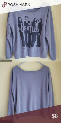 Beatles Sweatshirt Soft fabric. Not actually from hot topic but similar taste. Hot Topic Tops Sweatshirts & Hoodies