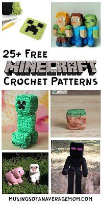 Minecraft Crochet Patterns, Minecraft Pattern, Pokemon Crochet Pattern, Crochet Amigurumi Free Patterns, Plush Pattern, Minion Pattern, Mario Crochet, Crochet Game, Harry Potter Crochet