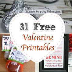 Are you in need of some Valentine's Day inspiration? Check out these 31 free Valentine printables.