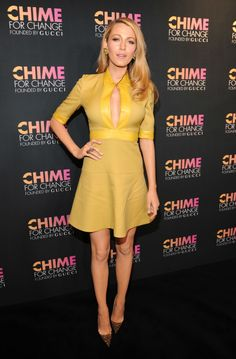 At a 'Chime for Change' Gucci event in New York.