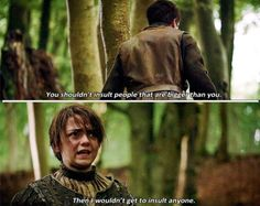 Arya and Gendry <3