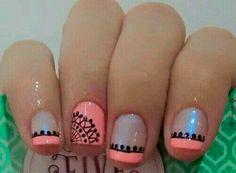 Trendy Ideas For Nails Design Summer Gel French Manicures Fun Gel French Manicure, French Tip Nails, Nail Manicure, French Manicures, Diy Nail Designs, Acrylic Nail Designs, Acrylic Nails, Really Cute Nails, Cute Nail Art