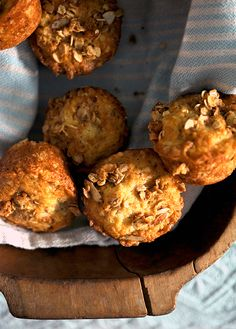 Ina Garten Banana Crunch Muffins made with homemade granola