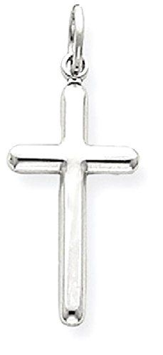 #WomensGifts ICE CARATS 14k White Gold Cross Religious Pendant Charm Necklace Latin Fine Jewelry Gift Set For Women Heart
