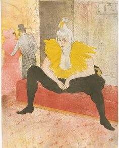 Happy birthday to Henri de Toulouse-Lautrec born on this day in 1864. The success of Toulouse-Lautrec's posters advertising Parisian cabarets such as the Moulin Rouge led him to produce deluxe editions of prints of Montmartre's performers such as this one of the clown and dancer Cha-u-Kao. Henri de Toulouse-Lautrec (French 18641901). The Seated Clowness (Mademoiselle Cha-u-ka-o) (from the series Elles) 1896. #metmuseum #ToulouseLautrec by metmuseum on Instagram
