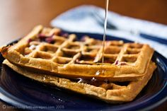 Vegan blueberry waffles- I used Bob's Red Mill gluten free all purpose flour and they turned out great!