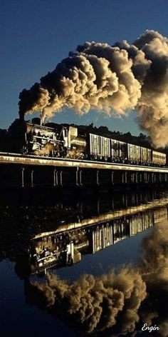 """expecttheunexpectedtoday: """" Taken June 1997 in the early morning - Steam / South African Railways Branch Line Locomotive / Knysna Lagoon trestle / Knysna, Western Cape Province, South Africa / captured by photographer Michael F. Allen who. Train Tracks, Train Rides, South African Railways, Train Miniature, Old Steam Train, Knysna, Bonde, Train Pictures, Old Trains"""