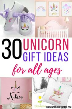I love these 30 magical unicorn gifts for kids (and a few for adults). Unicorn gift ideas for kids from toddlers to teens. Unicorn toys for toddlers, unicorn gift ideas for tweens, teen gift ideas, and a few things adult unicorn fans will love too. Check them all out here! #unicorngiftideas #giftguide #Christmas #unicorngiftsforkids #unicorngifts Toddler Gifts, Toddler Toys, Parenting Toddlers, Parenting Hacks, Birthday Surprise Boyfriend, Birthday Surprises, Girlfriend Birthday, Indoor Activities, Activities For Kids