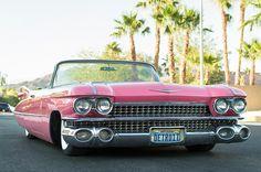 Old And Vintage Cars: Retro Cadillac 1959 Convertible Pink 1959 Cadillac, Pink Cadillac, Convertible, Bling License Plate Frames, Old Vintage Cars, Black Rhinestone, Retro Cars, Future Car, Cool Cars