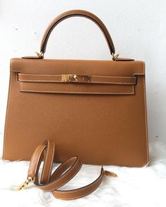 Hermes Kelly 32 Toffee epsom sellier ghw