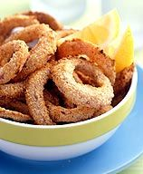 "Weight Watchers ""Fried"" Onion Rings  Serving Size: about 1/2 an onion  Points Plus Value: 5"