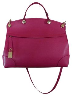 Furla Gloss Pink Saffiano Leather Petite Piper Fuchsia Pink Satchel. Save 7% on the Furla Gloss Pink Saffiano Leather Petite Piper Fuchsia Pink Satchel! This satchel is a top 10 member favorite on Tradesy. See how much you can save