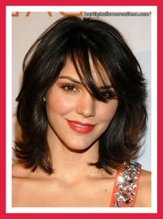medium length layered hairstyles for over 50 | medium layered hairstyles with side bangs