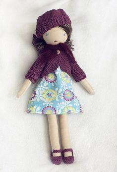 Lulu muñeca de trapo repasables por TangledThings en Etsy
