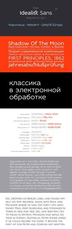 Idealist Sans - Free Font