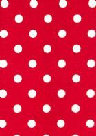 Polka Dot Lipstick Red White by Premier Prints - Drapery Fabric