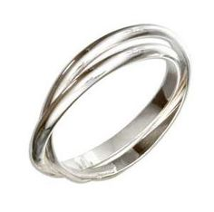 Sterling Silver Double Intertwined Ring