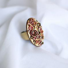 Gold Ring HandMade Ring Polymer Clay Ring  by Acuteaccessories, $13.00