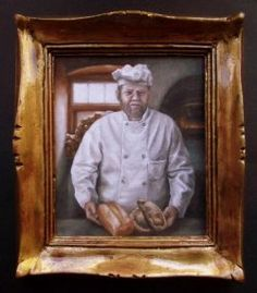 """""""The Baker"""" by Cindy Lotter Original Paintings, Original Art, Oil Paintings, Small Art, Painting & Drawing, Dollhouse Miniatures, Miniature Paintings, African, Drawings"""