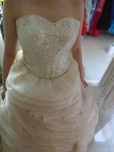 Pastel Cream beige and silver Wedding gown bridal gown with beadwork wedding gown organza ball gown Php3,000 rental.  www.gownforent.com   Debut, flores de mayo, pageant, sta cruzan, gala, wedding, bridal  Viber/Telegram/Line/Whatsapp: 09983606102   www.gownforent.com   Facebook: manilagowns   Instagram: gownforent Silver Wedding Gowns, Prom Dresses, Formal Dresses, Manila, Pageant, Beadwork, Bridal Gowns, Ball Gowns, Pastel