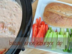 Slow Cooker Bacon Cheeseburger Dip - creamy and deliciousHealthy Game Day Eats!