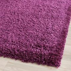 Cozy Solid Purple Shag Rug (2'3 x 7') | Overstock.com Shopping - The Best Deals on Runner Rugs