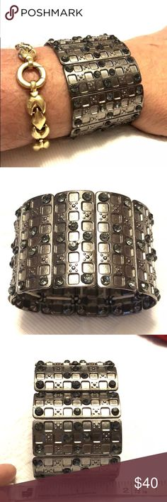 Cuff bracelet with Strass crystals I got for my birthday in 2012.  I never wear it.  Made in Brazil Jewelry Bracelets