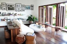 Apparently this is in Jamaica, regardless, I love the open windows and all the beautiful wood pieces.