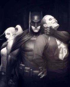 Harley Quinn, Batman, the Joker