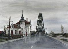 De Barendrechtse brug met links het Tramstation - Kemper, C. J. ( Charles )