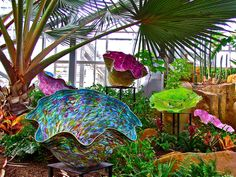 Basket Forest By Dale Chihuly In Meijer Gardens Photograph  - Basket Forest By Dale Chihuly In Meijer Gardens Fine Art Print