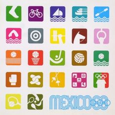 Otl Aicher's Mexico 68 Olympic Icons