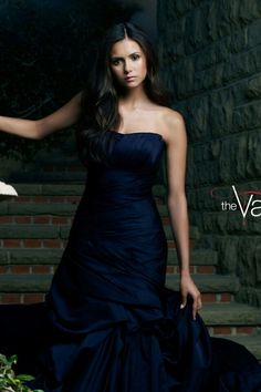 Vampire Diaries Stefan, Nina Dobrev Vampire Diaries, Vampire Diaries Fashion, Tube Gown, Tube Dress, Bonnie Bennett, Caroline Forbes, Elena Gilbert, Damon Salvatore