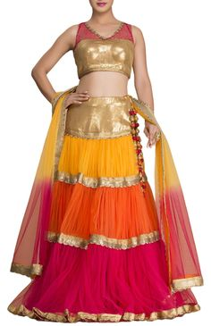 Colorful Lehenga with blouse.