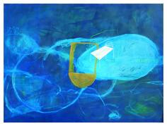 """Thomas Berra """"Untitled"""", 2015, Acrilico e pastelli su tela, 150 x 200 cm, Foto di Mauro Ranzani.  Mostra WELOVESLEEP, Galleria Santa Radegonda, fermata Duomo della metropolitana di Milano, fino al 14 giugno 2015. INGRESSO GRATUITO"""